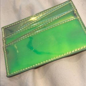 urban outfitters iridescent card wallet